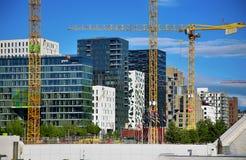 ΟΣΛΟ, ΝΟΡΒΗΓΙΑ †«στις 17 Αυγούστου 2016: Ένα εργοτάξιο οικοδομής Bjorvik Στοκ εικόνα με δικαίωμα ελεύθερης χρήσης