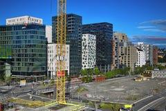 ΟΣΛΟ, ΝΟΡΒΗΓΙΑ †«στις 17 Αυγούστου 2016: Ένα εργοτάξιο οικοδομής Bjorvik Στοκ Εικόνες