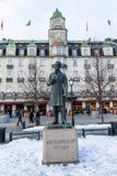 ΟΣΛΟ, ΝΟΡΒΗΓΙΑ - 16 Μαρτίου 2018: Άγαλμα του πρώτα νορβηγικού κοινοβουλευτικού πρωθυπουργού Johan Sverdrup, που βρίσκεται στο Kar Στοκ Εικόνες