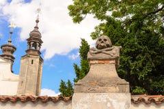 Οστεοφυλάκιο της Σλοβακίας Sedlec Στοκ φωτογραφίες με δικαίωμα ελεύθερης χρήσης
