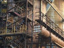 Οστράβα - βιομηχανική περιοχή Vitkovice στοκ εικόνα