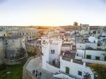 Οτράντο με το κάστρο Aragonese, Apulia, Ιταλία Στοκ φωτογραφία με δικαίωμα ελεύθερης χρήσης
