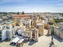 Οτράντο με το κάστρο Aragonese, Apulia, Ιταλία Στοκ φωτογραφίες με δικαίωμα ελεύθερης χρήσης