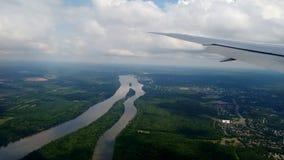 Ουάσιγκτον από το αεροπλάνο στοκ εικόνα με δικαίωμα ελεύθερης χρήσης