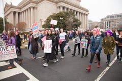Ουάσιγκτον, ΗΠΑ 21 Ιανουαρίου 2017 Γυναίκες ` s Μάρτιος στην Ουάσιγκτον Στοκ Φωτογραφία