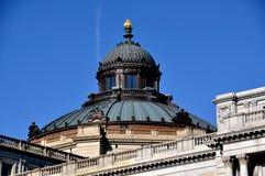 Ουάσιγκτον, συνεχές ρεύμα: Φανός βιβλιοθήκης του Κογκρέσου της εκμάθησης στοκ εικόνα με δικαίωμα ελεύθερης χρήσης