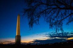 Ουάσιγκτον, ΣΥΝΕΧΕΣ μνημείο Στοκ φωτογραφίες με δικαίωμα ελεύθερης χρήσης