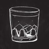 ουίσκυ γυαλιού Σκιαγραφημένη διάνυσμα απεικόνιση Στοκ Εικόνα