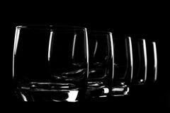 ουίσκυ σειρών γυαλιών Στοκ Φωτογραφίες