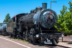 Ουίλιαμς, Αριζόνα, ΗΠΑ - 20 Ιουνίου 2014: Εκλεκτής ποιότητας ατμομηχανή ατμού στο σταθμό στο Ουίλιαμς Αριζόνα μεγάλος σιδηρόδρομο στοκ εικόνες με δικαίωμα ελεύθερης χρήσης