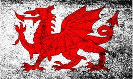 Ουαλλέζικος δράκος Grunge απεικόνιση αποθεμάτων