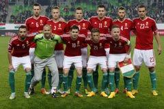Ουγγαρία εναντίον των Κάτω Χωρών Αγώνας ποδοσφαίρου χαρακτηριστή του 2016 ευρώ UEFA της Φινλανδίας Στοκ Φωτογραφία