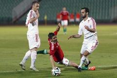 Ουγγαρία εναντίον των Κάτω Χωρών Φιλικός αγώνας ποδοσφαίρου της Αλβανίας Στοκ εικόνα με δικαίωμα ελεύθερης χρήσης