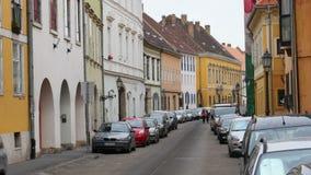 Ουγγρικά οδοί και διαμερίσματα, Βουδαπέστη, Ουγγαρία, 4k απόθεμα βίντεο