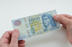 Ουγγρικά χρήματα, forint Στοκ φωτογραφίες με δικαίωμα ελεύθερης χρήσης