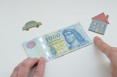 Ουγγρικά χρήματα, forint Στοκ εικόνες με δικαίωμα ελεύθερης χρήσης