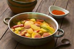 Ουγγρικές πάπρικες Krumpli (πατάτα με την πάπρικα) Στοκ Εικόνες