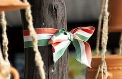 Ουγγρική κορδέλλα χρωμάτων υπηκόων Στοκ εικόνα με δικαίωμα ελεύθερης χρήσης