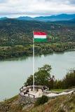 Ουγγρική σημαία στο Visegrad Στοκ Εικόνες