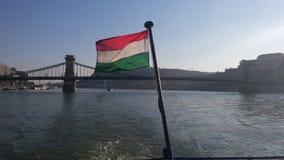 Ουγγρική σημαία Στοκ Φωτογραφίες