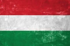 Ουγγρική σημαία Στοκ φωτογραφία με δικαίωμα ελεύθερης χρήσης