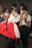 Ουγγρικοί λαϊκοί χορευτές Στοκ εικόνα με δικαίωμα ελεύθερης χρήσης