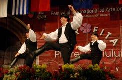 Ουγγρικοί λαϊκοί χορευτές σε ένα φεστιβάλ Στοκ Εικόνα