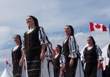 Ουγγρικοί χορευτές στις ημέρες 2013 κληρονομιάς του Έντμοντον στοκ εικόνες