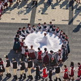 Ουγγρικός λαϊκός χορός στοκ φωτογραφία με δικαίωμα ελεύθερης χρήσης