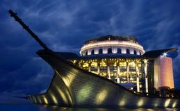 Ουγγρικό εθνικό θέατρο της Βουδαπέστης Στοκ Εικόνες