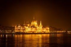 Ουγγρικό κτήριο του Κοινοβουλίου της Βουδαπέστης Στοκ Φωτογραφία
