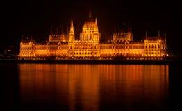 Ουγγρικό κτήριο του Κοινοβουλίου Στοκ Φωτογραφία