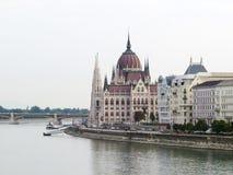 Ουγγρικό κτήριο των Κοινοβουλίων, Βουδαπέστη, Ουγγαρία Στοκ Εικόνες