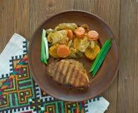 Ουγγρικό πιάτο του χοιρινού κρέατος στοκ εικόνα