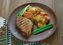 Ουγγρικό πιάτο του χοιρινού κρέατος στοκ εικόνες