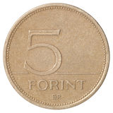 Ουγγρικό Forint πέντε Στοκ Φωτογραφία