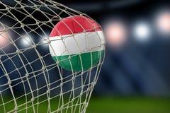 Ουγγρικό soccerball σε καθαρό Στοκ εικόνα με δικαίωμα ελεύθερης χρήσης