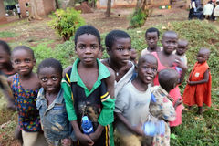 Ουγκάντα αφρικανικά παιδιά Στοκ Φωτογραφίες