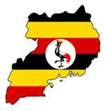 Ουγκάντα Χάρτης της διανυσματικής απεικόνισης της Ουγκάντας στοκ φωτογραφία με δικαίωμα ελεύθερης χρήσης