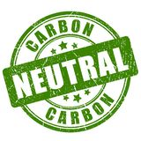 Ουδέτερο πράσινο γραμματόσημο άνθρακα απεικόνιση αποθεμάτων