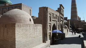 Ουζμπεκιστάν Khiva Οδοί της παλαιάς πόλης φιλμ μικρού μήκους