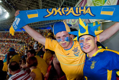 Ουκρανία εναντίον της αντιστοιχίας της Γαλλίας στο ευρώ 2012 Στοκ φωτογραφίες με δικαίωμα ελεύθερης χρήσης