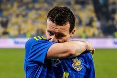Ουκρανία εναντίον της Ουαλίας Στοκ Φωτογραφία