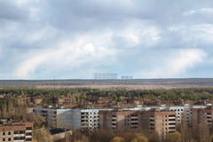 Ουκρανία Ζώνη αποκλεισμού του Τσέρνομπιλ - 2016 03 19 Κτήρια στην εγκαταλειμμένη πόλη Pripyat Στοκ φωτογραφίες με δικαίωμα ελεύθερης χρήσης