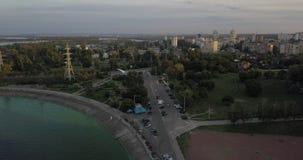 Ουκρανία Κίεβο Vyshgorod Θάλασσα Kyiv _ Dnieper δεξαμενή GAES Ges φιλμ μικρού μήκους