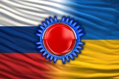 Ουκρανία και Ρωσία Στοκ Εικόνες
