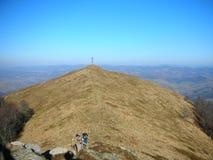 Ουκρανία Καρπάθια κορυφαία όψη βουνών Στοκ φωτογραφία με δικαίωμα ελεύθερης χρήσης