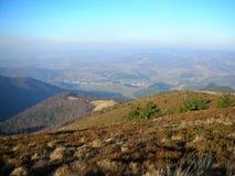 Ουκρανία Καρπάθια κορυφαία όψη βουνών Στοκ Εικόνες