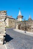 Ουκρανία Παλαιό φρούριο στο kamianets-Podilskyi Στοκ Εικόνες