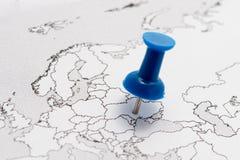 Ουκρανία στο χάρτη Στοκ φωτογραφία με δικαίωμα ελεύθερης χρήσης